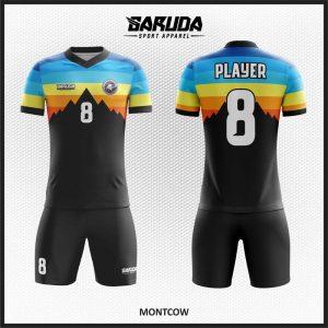 Desain Jersey Futsal Printing Warna Hitam Montcow