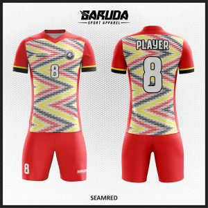 Desain Baju / Jersey Futsal Seamred Motif Etnic