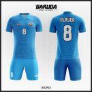 Desain Jersey Futsal Printing Alcirle Warna Biru Elegan