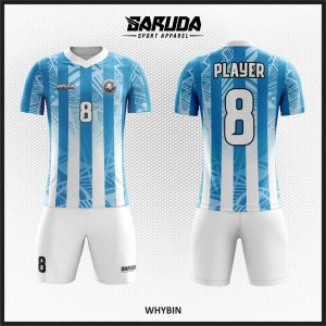 Desain Baju Futsal Whybin Gradasi Warna Biru Putih