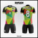 Desain Kostum Futsal Printing Triclow Motif Segi Tiga Yang Memukau