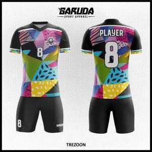 Desain Jersey Futsal Full Print Trezoon Motif Segitiga Yang Unik