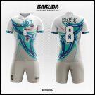 Desain Seragam Futsal Printing Benway Warna Putih Tampil Lebih Keren