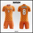 Desain Kaos Futsal Printing Refout Warna Orange Yang Dinamis