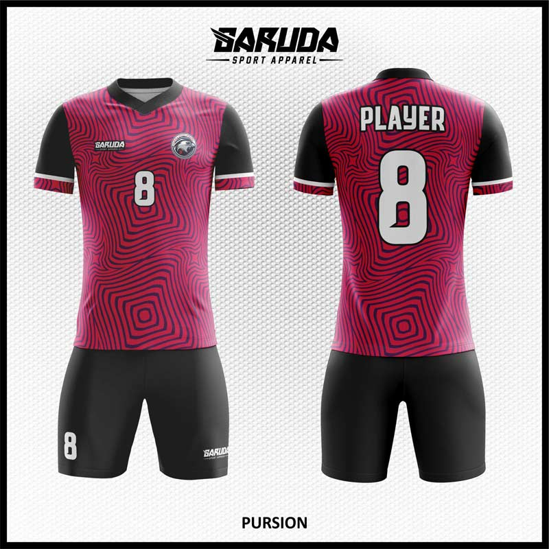 Desain Kostum Futsal Pursion Warna Ungu Hitam Paling Unik