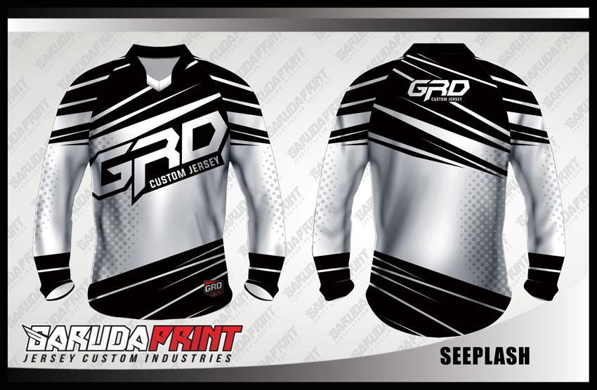 Buat Kaos Sepeda BMX Warna Hitam Abu Yang Gagah Menawan