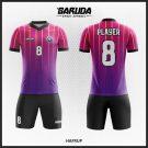 Desain Seragam Futsal Hafrup Gradasi Warna Ungu Yang Menawan