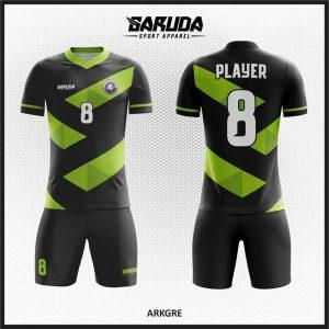 Desain Jersey Futsal Arkgre Warna Hitam Hijau Keren Banget