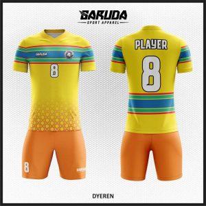 Desain Baju Futsal Printing Dyeren Gradasi Warna Lembut