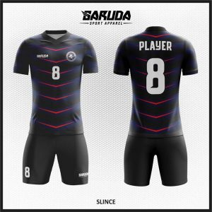 Desain Jersey Futsal Printing Slice Warna Dongker Hitam Menawan