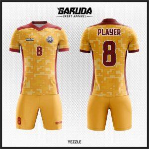 Desain Jersey Sepakbola Yezzle Warna Coklat Yang Unik