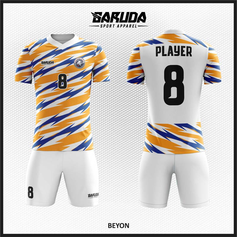 Desain Jersey Sepakbola Beyon Motif Zig Zag Tiga Warna Yang Trendy