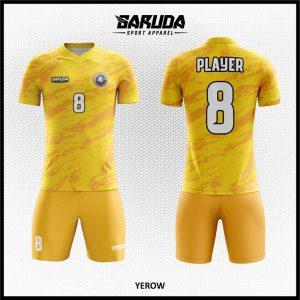 Desain Seragam Futsal Yerow Warna Kuning Loreng Untuk Tampil Beda
