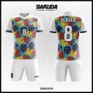 Desain Seragam Sepakbola Danloun Motif Daun Penuh Warna Warni