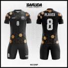 Desain Baju Bola Futsal Full Print Hecomp Warna Hitam Yang Gagah