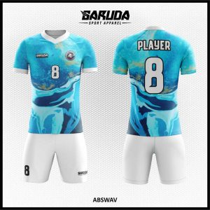 Desain Jersey Sepak Bola Printing Abswav Warna Biru Dasar Laut