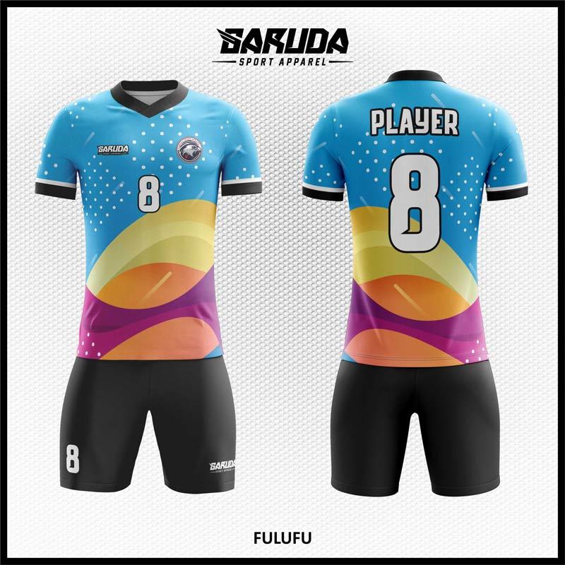 Desain Jersey Sepakbola Full Print Fulufu Motif Bergelombang Yang Trendy