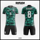 Desain Baju Futsal Cams Motif Doreng Army Biru Hitam