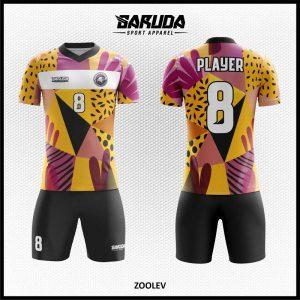 Desain Kaos Sepakbola Full Print Zoolev Warna Kuning Hitam Ungu