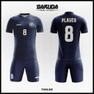 Desain Jersey Futsal Full Print Thinline Warna Biru Dongker