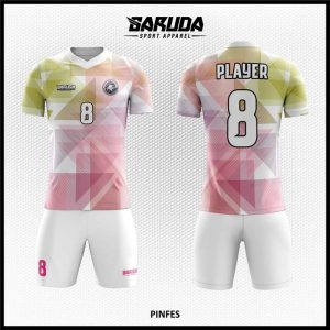 Desain Kostum Futsal Printing Pinfes Motif Gradasi Warna Lembut