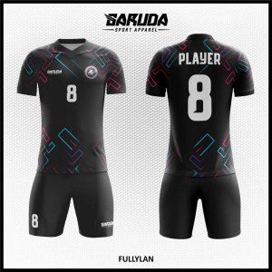 Desain Jersey Futsal Printing Fullylan Warna Hitam Gagah Maksimal