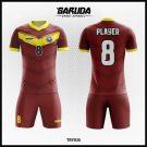 Desain Jersey Sepakbola Printing Tryios Warna Coklat Yang Menawan