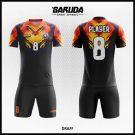 Desain Jersey Futsal Printing Draff Warna Hitam Maksmimal