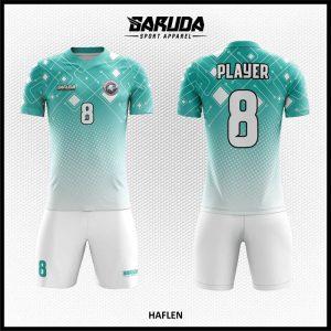Desain Jersey Sepak Bola Printing Haflen Warna Biru Putih