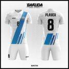 Desain Baju Bola Futsal Printing Whithi Warna Putih Yang Trendy