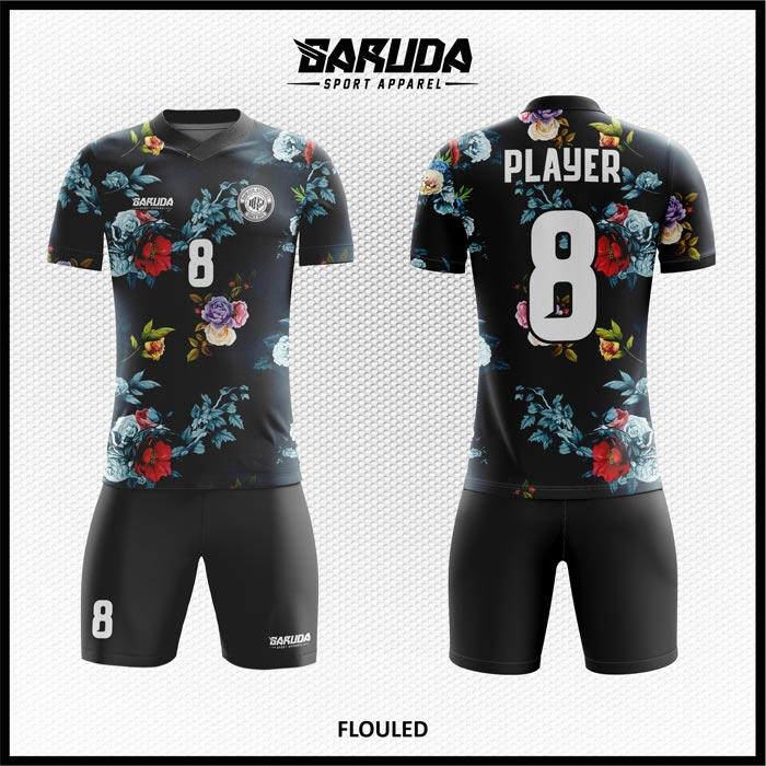 Desain Jersey Sepakbola Full Print Flouled Motif Bunga Yang Cantik