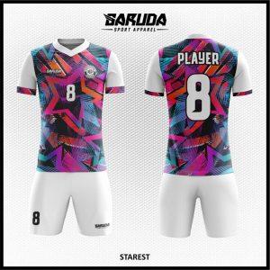 Desain Jersey Bola Futsal Printing Starest Motif Bintang Yang Trendy