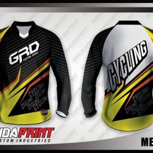 Desain Jersey Sepeda Downhill Metalbee Warna Hitam Kuning Abu-Abu Paling Keren