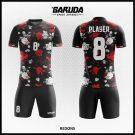 Desain Jersey Sepakbola Printing Redons Motif Bunga