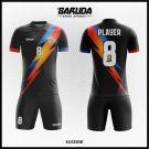 Desain Seragam Futsal Printing Sliceink Warna Hitam Motif Petir