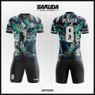 Desain Baju Futsal Printing Gryndes Warna Hijau Hitam Misterius