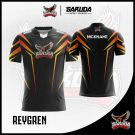 Desain Baju Gaming Printing ReyGren Warna Hitam Super Elegan
