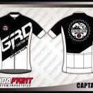 Desain Baju Sepeda Gowes Printing Captain Kid Warna Hitam Putih Minimalis