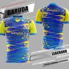 Desain Jersey Badminton Printing Leacband Warna Biru Kuning Terbaru