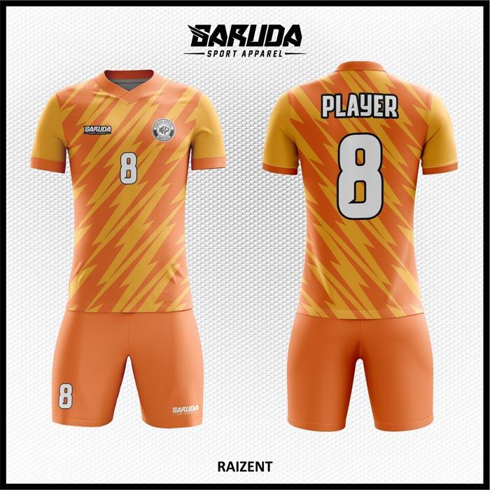 Desain Jersey Futsal Raizent Warna Orange