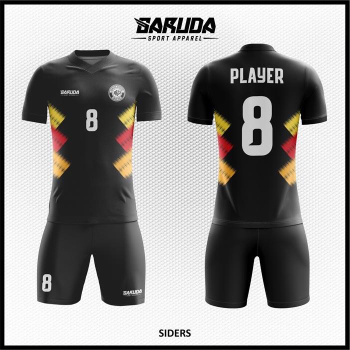 Desain Jersey Futsal Printing Siders Warna Hitam Minimalis