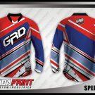 Desain Jersey Sepeda MTB Speedwork Warna Merah Biru Kekinian