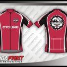 Desain Jersey Sepeda Road Bike Monza Warna Merah Hati