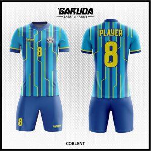 Desain Kostum Sepakbola Printing Colbent Warna Biru