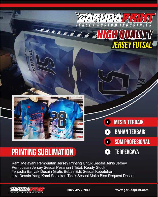 500 Desain Jersey Futsal Gratis Untuk Bikin Jersey Printing