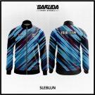 Desain Jaket Printing Warna Biru Motif Zig Zag Paling Keren