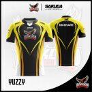 Desain Jersey Esports Printing Yuzzy Warna Hitam Kuning Terkeren