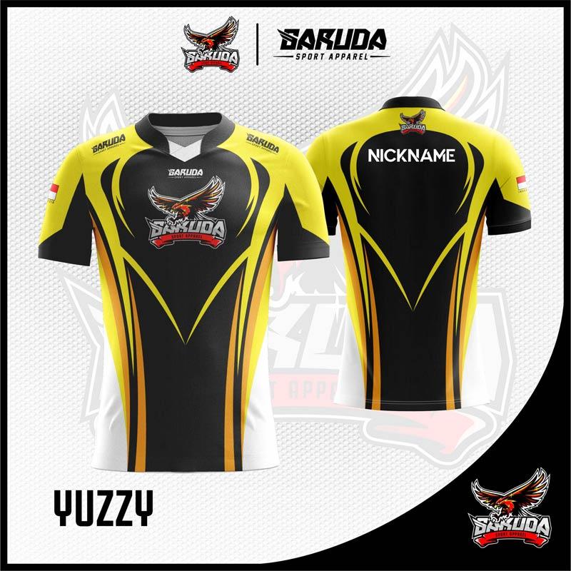 Desain Jersey Esports Printing Yuzzy Warna Hitam Kuning ...
