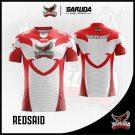 Desain Baju Gaming Printing Redsaid Warna Merah Putih Lambang Nasionalis