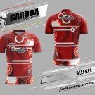 Desain Kaos Badminton Printing Allfree Warna Merah Paling Bagus
